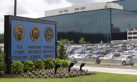 This June 6, 2013 file photo shows the National Security Administration (NSA) campus in Fort Meade, Md., where the US Cyber Command is located.
