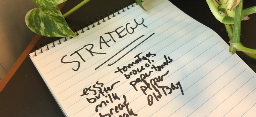 "How often have you heard ""strategic"" and ""complex"" applied to things no more strategic and complex than a shopping list?"