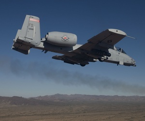 An A-10C Thunderbolt II with the 188th Fighter Wing, Arkansas Air National Guard conduct close-air support training Nov. 21, 2013, near Davis-Monthan Air Force Base, Ariz.