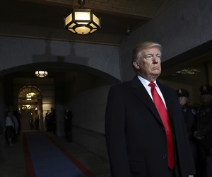 President-elect Donald Trump pauses as he waits to be introduced on the West Front of the U.S. Capitol on Friday, Jan. 20, 2017, in Washington, for his inauguration ceremony as the 45th president of the United States.