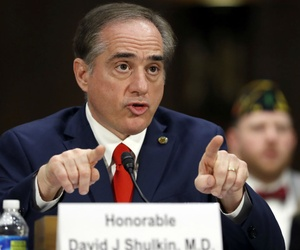 VA Secretary-designate Dr. David Shulkin testifies before the Senate Veterans' Affairs Committee.
