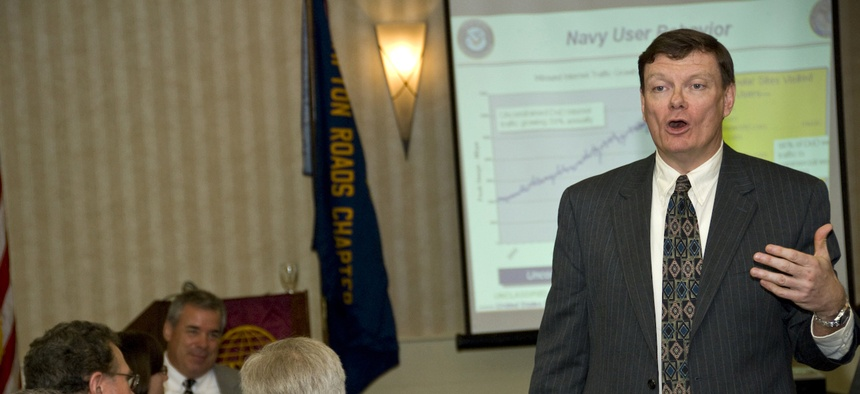Terry Halvorsen, then-Naval Network Warfare Command deputy commander, in April 2009.