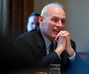 Department of Homeland Security Secretary John Kelly at a meeting with President Donald Trump and members of his Cabinet.