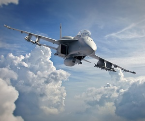 An concept photo of a Boeing Advanced Super Hornet.