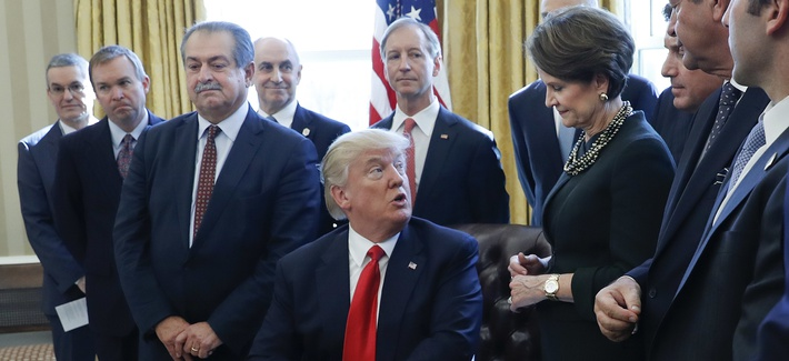 Image result for photos of trump with defense industry executives