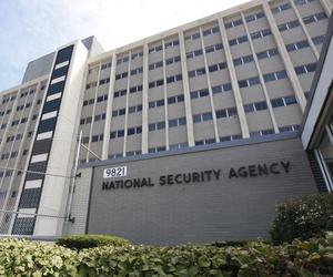 This Sept. 19, 2007 file photo shows the National Security Agency building at Fort Meade, Md.