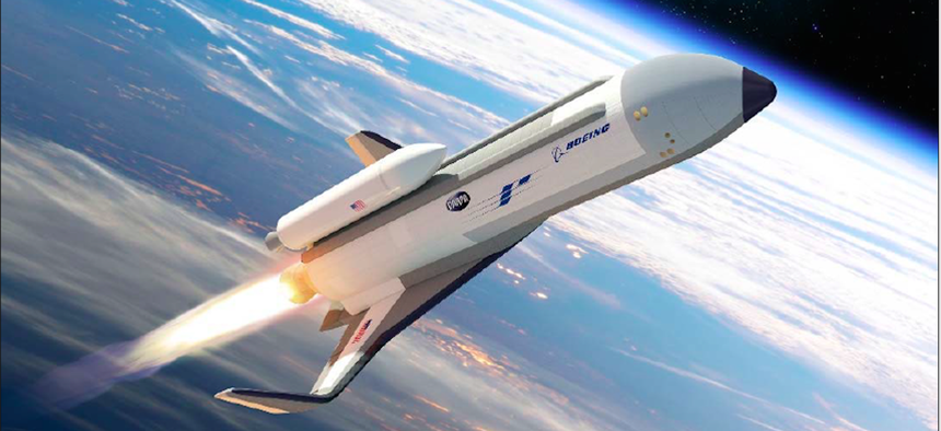 An artist rendering of the XS-1 Spaceplane