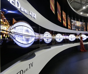 LG Electronics'Organic Light-emitting Diode (OLED) TVs are displayed during the 2014 Korea Electronics Show in Goyang, South Korea, Tuesday, Oct. 14, 2014.