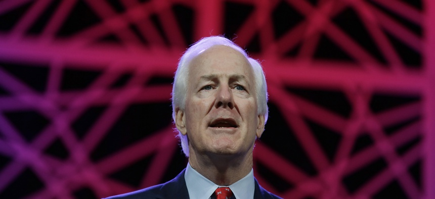 Sen. John Cornyn, R-Texas, speaks during the general session of the Texas Republican Convention Friday, May 13, 2016, in Dallas.