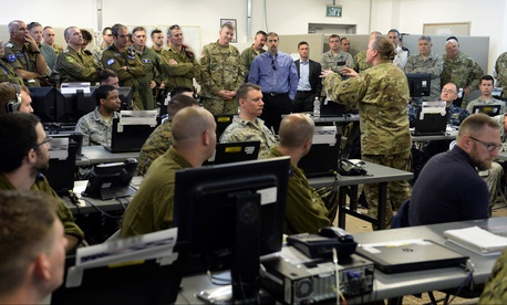 American and Israeli officials visited the Juniper Cobra 16 exercise site in Israel, February 24, 2016.