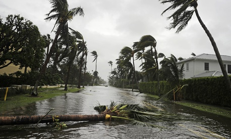 The aftermath of Hurricane Irma in Naples, Fla., Sunday, Sept. 10, 2017.