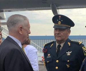 U.S. Defense Secretary Jim Mattis meets Mexican senior officers in Mexico City.