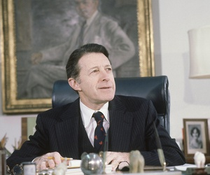 Secretary of Defense Caspar Weinberger in Washington, D.C. in February 1981.