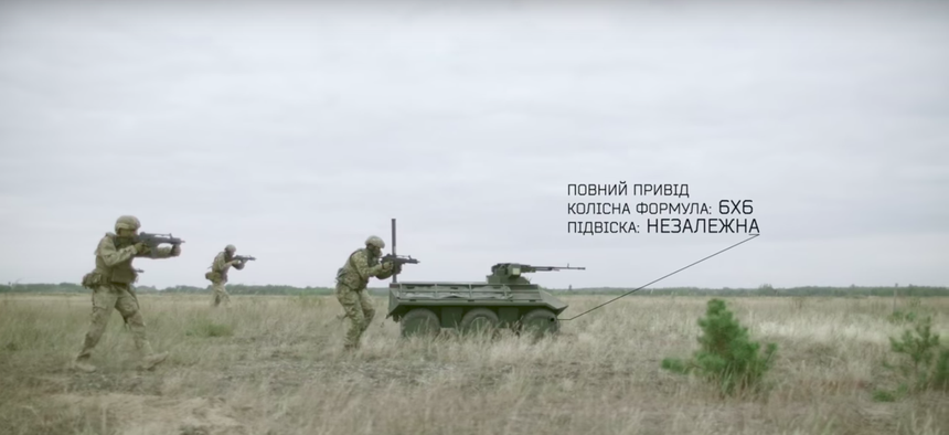 """The """"Phantom"""" armed ground robot, promotional video."""