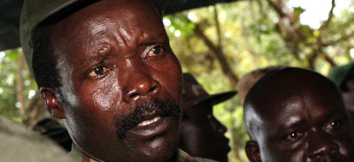 he leader of the Lord's Resistance Army Joseph Kony answers journalists' questions following a meeting with UN humanitarian chief Jan Egeland at Ri-Kwangba in southern Sudan. Nov. 2006