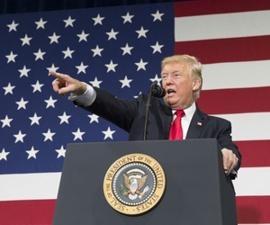 President Trump at a tax reform event Aug. 30.