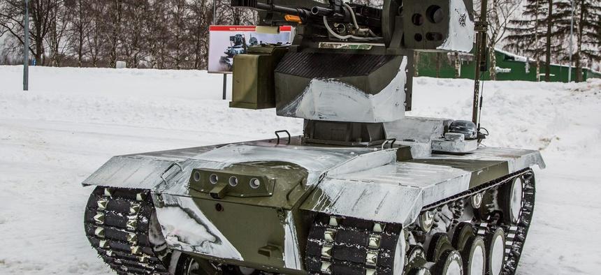 "The Russian ""Nerehta"" ground robot."