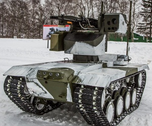 "The Russian ""Nerehta"" ground robot."