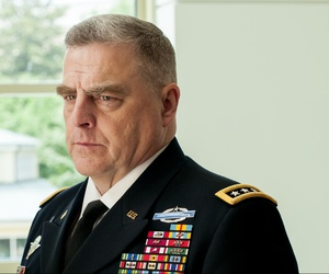 Chief of Staff of the Army Gen. Mark Milley at the 242nd Army Birthday Cake Cutting Ceremony.