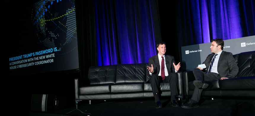 Rob Joyce, White House Cybersecurity Coordinator, speaks to Joseph Marks at the 5th Annual Defense One Summit.