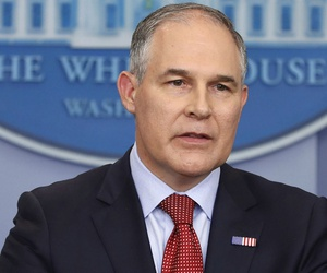 """EPA Administrator Scott Pruitt told lawmakers he was committed to ensuring the agency's scientific data is """"presented openly and with integrity, and is free from political interference."""""""