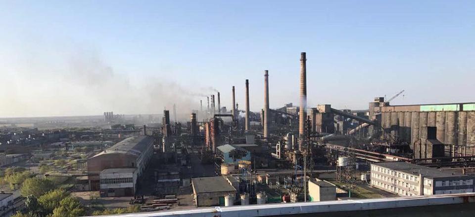 The Avdiivka coke plant in Eastern Ukraine