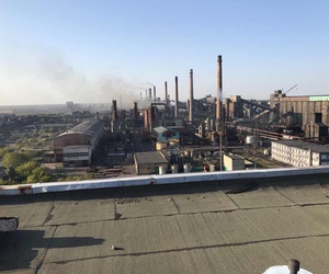 The Avdiivka coke plant in Eastern Ukraine