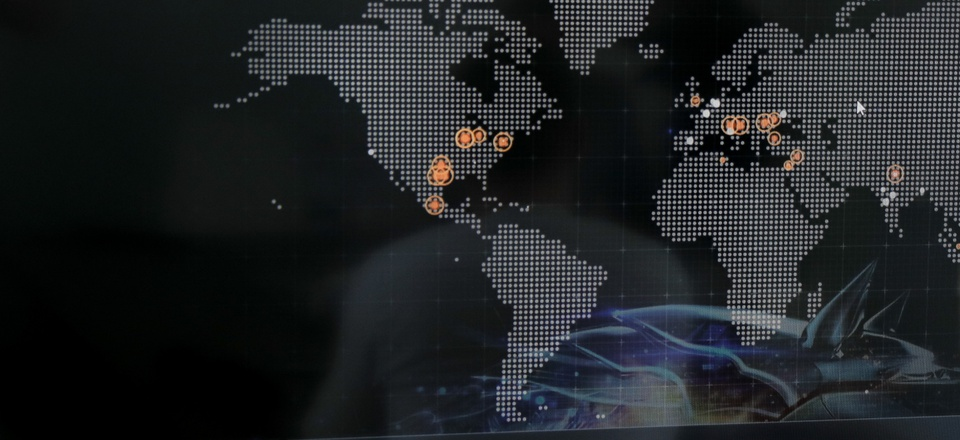 Bogdan Botezatu, a cyberthreats specialist with Bitdefender speaks during an interview with the Associated Press, backdropped by a real time cyber-attacks world map, at the headquarters of Bitdefender in Bucharest, Romania, Wednesday, June 28, 2017.