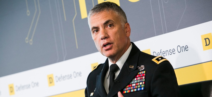 Ltg. Paul Nakasone discusses the future of AI and US Cyber Command at the second Defense One Technology Summit, June, 2017.
