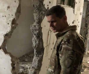 In his first visit to Raqqa since it's October liberation, Gen. Joseph Votel tours former ISIS torture chambers. Votel called on the international community to help rebuild, despite lacking permission from the Assad regime, Monday, January 21, 2018.