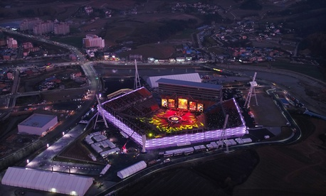 Overhead view of the 2017 Dream Concert in PyeongChang, South Korea, November 4, 2017