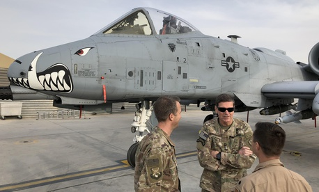 Gen. Joseph Votel, U.S. Central Command commander, visited newly arrived A-10s at Kandahar Air Field, Sat. Jan. 27, 2018.
