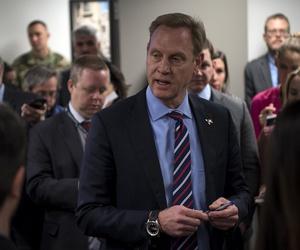 Deputy Secretary of Defense Patrick M. Shanahan briefs the media at the Pentagon.