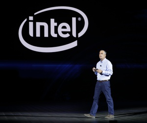 Intel CEO Brian Krzanich delivers a keynote speech at CES International Monday, Jan. 8, 2018, in Las Vegas