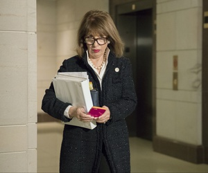 Rep. Jackie Speier, D-Calif., on Capitol Hill in Washington, Dec. 6, 2017.