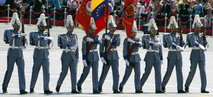 A Venezuelan military contingent took part in a parade in Beijing in 2015 commemorating the 70th anniversary of Japan's surrender during World War II.