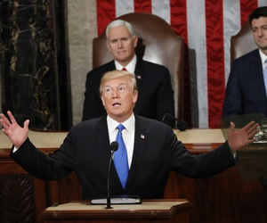President Donald Trump delivers his State of the Union address to a joint session of Congress on Capitol Hill in Washington, Tuesday, Jan. 30, 2018.