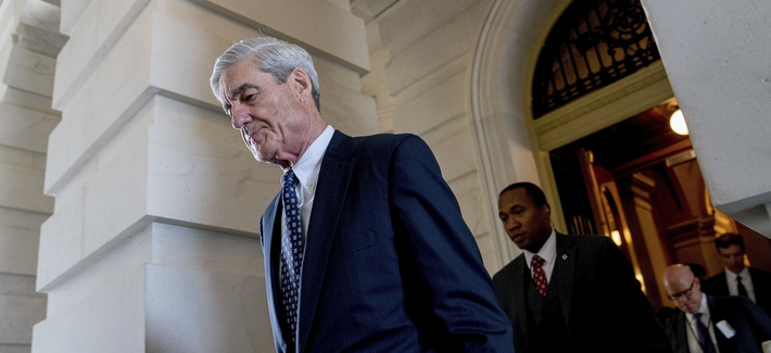 In this June 21, 2017, file photo, former FBI Director Robert Mueller, the special counsel probing Russian interference in the 2016 election, departs Capitol Hill.