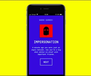 The Fake News Game simulates propaganda tactics such as impersonation, and awards badges once a round is completed.
