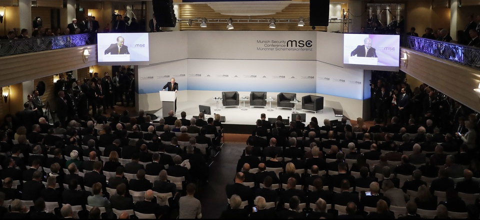 Wolfgang Ischinger, chairman of the Munich Security Conference, opens the Munich Security Conference in Munich, southern Germany, Friday, Feb. 17, 2017.