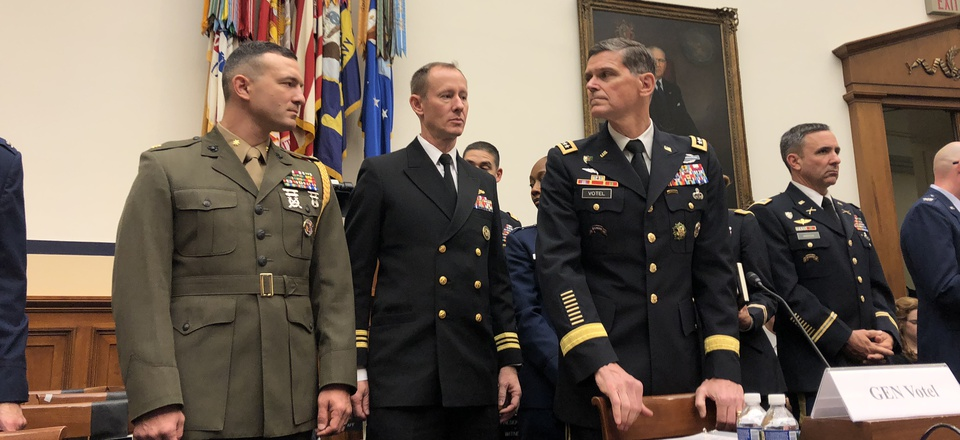 Gen. Joseph Votel testifies before the House Armed Services Committee, Tues., Feb 27, 2018.