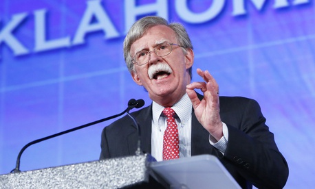 Then-United Nations Ambassador John Bolton speaks at the Southern Republican Leadership Conference in Oklahoma City on May 22, 2015.