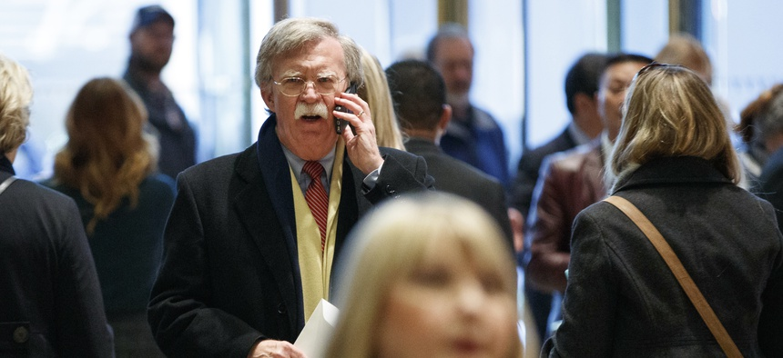 John Bolton, the former U.S. ambassador to the United Nations, arrives at Trump Tower for a meeting with President-elect Donald Trump, Dec. 2, 2016, in New York.