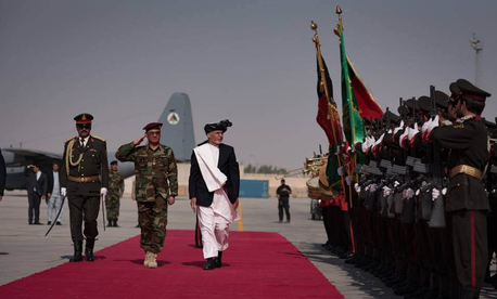 Afghan President Ashraf Ghani, October 10, 2017.