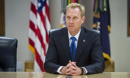 2017 file photo of Deputy Defense Secretary Patrick Shanahan