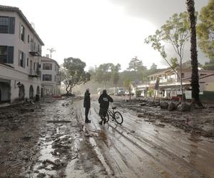 A mudflow in Montecito, California