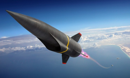 An Illustration of a hypersonic missile.