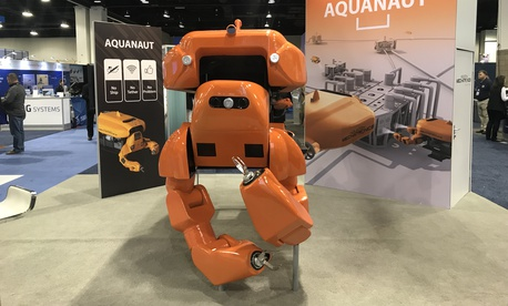 The Aquanaut unmanned underwater vehicle, from Houston Mechatronics revealed on Tuesday, May 1, 2018.
