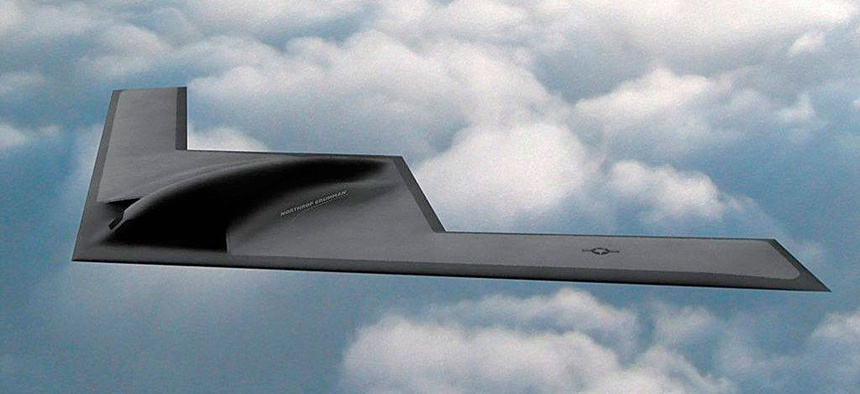 A Northrop Grumman illustration is the only publicly available imagery of the new bomber. Information about its price tag is even scantier.