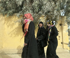 Women walking openly on the streets of in Raqqa, Syria, in the weeks after U.S.-backed Syria Democratic Forces liberated the city from ISIS, Jan. 22, 2018.